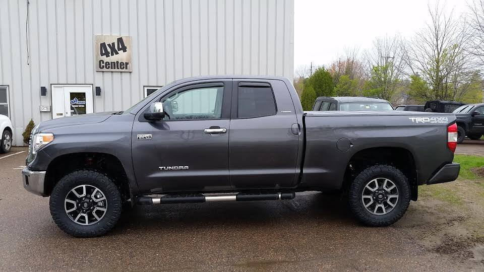 Toytota Tundra Gets 3 Lift 34 Tires